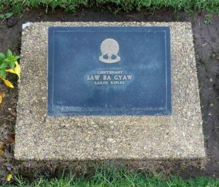 Ba Gyaw headstone