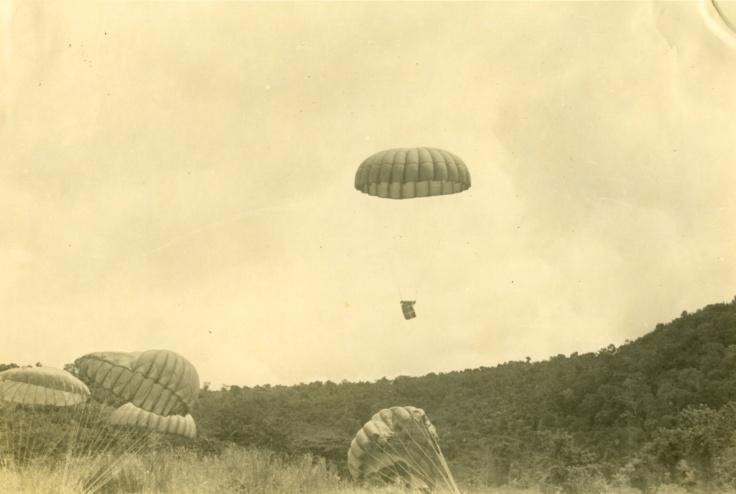 Burma - Parachute Drop
