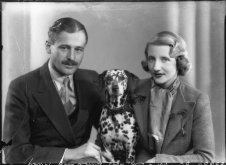 Hon-Blanche-Mary-Hanbury-Tracy-ne-Arundell-and-Ninian-John-Frederick-Hanbury-Tracy-with-their-dog